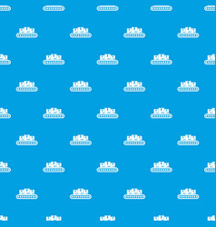 belt conveyor with load pattern seamless blue vector image vector image