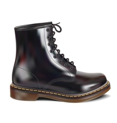 Black leather boot vector