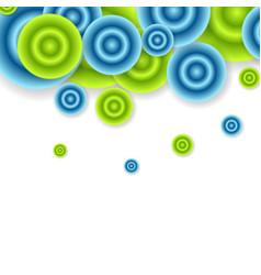 Bright abstract circles design vector