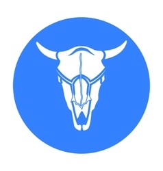 Bull skull icon black Singe western icon from the vector image