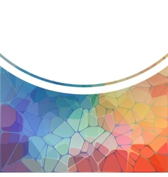 Colorful background with rainbow geometric mosaic vector image vector image
