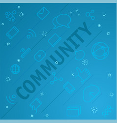 community concept different thin line icons vector image vector image