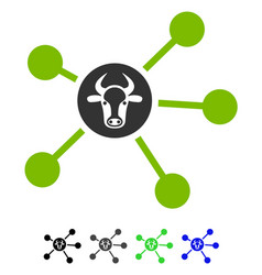Cow links flat icon vector