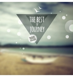 Creative graphic message for your travel design vector image