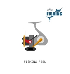 Fishing reel Item of fishing vector image