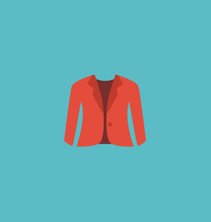 Flat icon jacket element of vector
