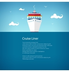 Front view of the cruise ship poster vector