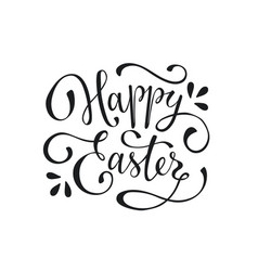 Happy easter text vector