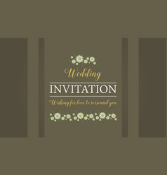 Happy wedding invitation card style vector