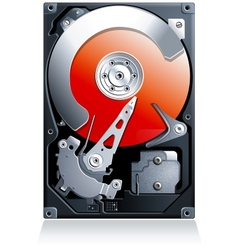 Hard disk drive HDD vector image vector image