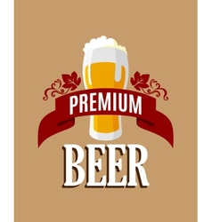 Lager beer banner vector image vector image