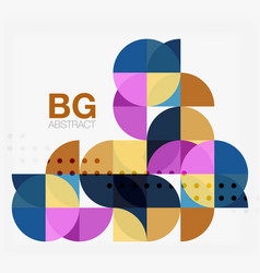 Modern geometric circle abstract background vector