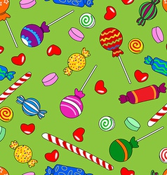 Seamless candy pattern vector