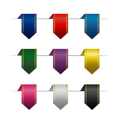 Set of colored vertical ribbons vector
