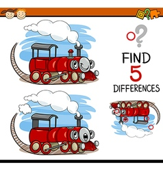 task of finding differences cartoon vector image vector image