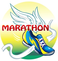 The emblem of the marathon vector image