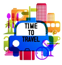 Time to travel travel-ling on holiday journey vector