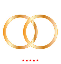 wedding rings icon color fill style vector image
