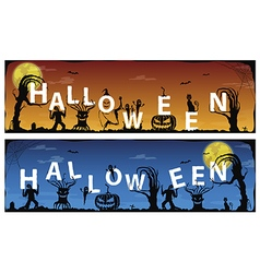 Banner halloween vector image