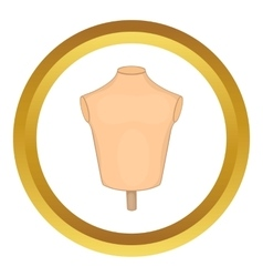 Mannequin or dressmakers dummy icon vector