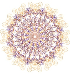 Ornamental round lace circle ornament vector