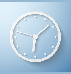 Origami paper wall clock time vector