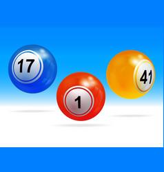 New 3d bingo lottery balls vector
