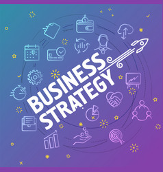 Business strategy concept different thin line vector