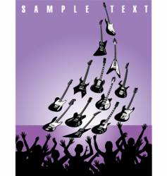 Live music guitars vector