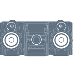 Audio system icon vector