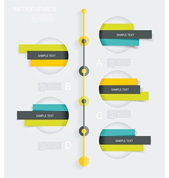 Modern infographics set diagram and time line vector