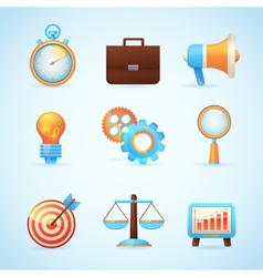 Seo internet marketing icons vector