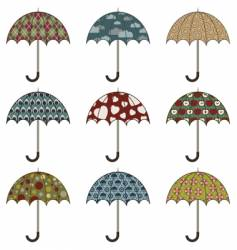umbrellas vector image