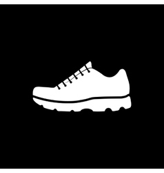 The sneaker icon shoes symbol flat vector
