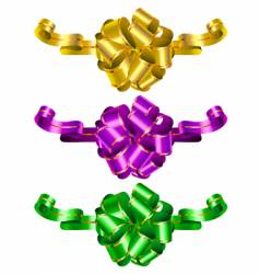 Three color decorative bows vector