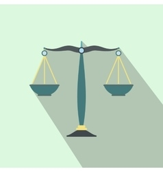 Scales of justice flat vector