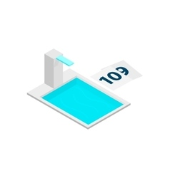Swimming pool tower 3d isometric icon vector