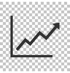 Growing bars graphic sign dark gray icon on vector