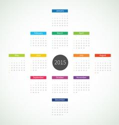 Abstract 2015 calendar vector