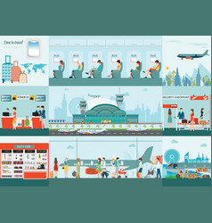 airport infographic of passenger airline at vector image vector image