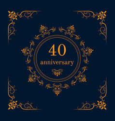 anniversary celebration card vector image