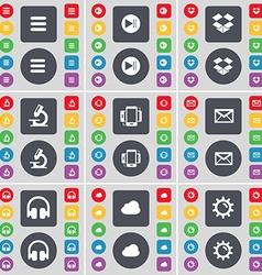 Apps media skip dropbox microscope smartphone vector
