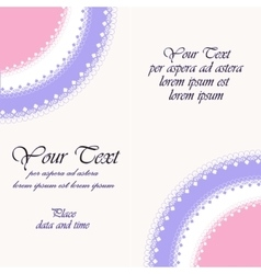 Beautiful invitation card vector