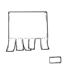 Blank paper vector