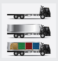 cargo trucks transportation isolated vector image