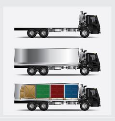 cargo trucks transportation isolated vector image vector image