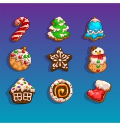 Christmas biscuits vector