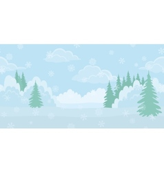 Christmas landscape winter forest vector image vector image