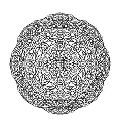contour monochrome mandala ethnic religious vector image