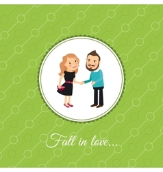 Couple in love valintines day card vector